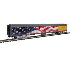 Walthers #920-9205 85' ACF Baggage Car Union Pacific Heritage Fleet - American Flag Scheme