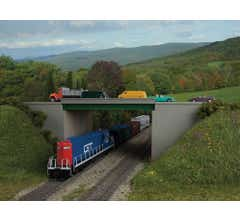 Walthers #933-4567 Modern Steel Highway Overpass with Concrete Sides - Kit