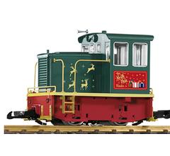 PIKO #38152ENG Christmas North Pole Hauler GE 25-Ton Diesel Electric locomotive Standard DC DCC Ready
