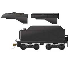 Rapido #602091 CPR D10-style Tender: Painted, Unlettered