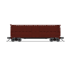 Broadway Limited #6600 K7A Stock Car Unlettered Boxcar Red No Sound 2-pack