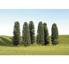 "Bachmann #32105 3"" - 4"" Cedar Trees nine pieces per pack"