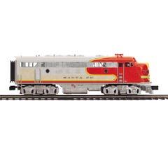 MTH #20-21241-4 F-7 A Unit Non-Powered Diesel Engine (Hi-Rail Wheels) - Santa Fe