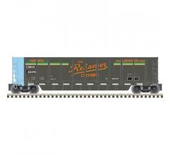 Atlas #20006681 COALVEYOR BATHTUB GONDOLA REISNER SCRAP METALS (CMHX) 42410 (BLACK/ORANGE/GREEN)