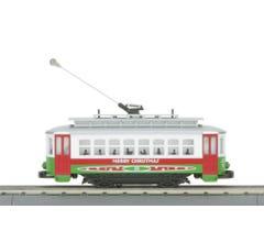 MTH #30-5146 Christmas Bump & Go Trolley