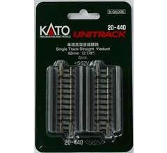 "Kato #20-440 Viaduct 62mm (2 7/8"") Straight Single Track [2 pcs]"