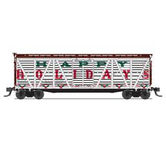 "Broadway Limited #5897 Holiday Season Stock Car ""Happy Holidays"" Holiday Sounds"