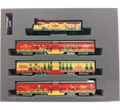 Kato #106-2015 N Operation North Pole Christmas Train 4-Unit Set