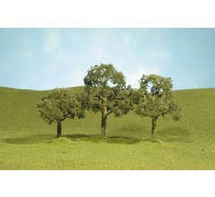 """Bachmann #32107 2"""" - 2.25"""" Walnut Trees four pieces per pack"""