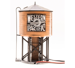 Broadway Limited #6137 Operating Water Tower w/ Sound w/ WP Logo Weathered Brown