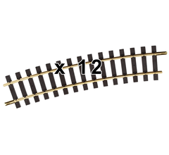 PIKO #35217C R7 Curve Track R=1560mm (61.60in) (Case of 12 Pieces)
