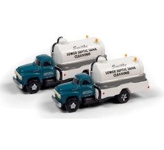 Classic Metal Works #50415 1954 Ford Septic Tank Truck (Smithe Septic Service) (2-Pack)