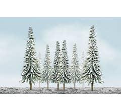 "JTT #92007 Snow Pine Tree 4""-6"" (24-Pack)"
