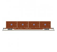 Atlas #50005427 85' Trash Flat Car - Southern Pacific #905000 w/containers