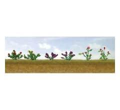 """JTT #95558 Flower Plants Assortment #1, 3/4"""" High (10/pk)"""