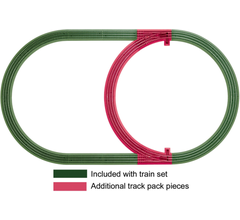 Lionel 12028 Fastrack Inner Passing Loop-Add-on Track Pack