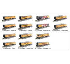 Kato #106-086 Union Pacific Excursion Train Seven Car Set- Taking Backorders
