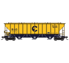 Trainworx #24430-01 PS4427 Covered Hopper - Chessie System