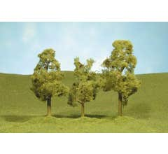 """Bachmann #32109 2.5"""" - 2.75"""" Sycamore Trees four pieces per pack"""