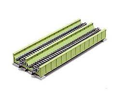 "Kato #20-456 186mm (7 5/16"") Double Track Plate Girder Bridge, Lt Green"