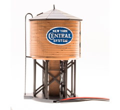 Broadway Limited #6134 N Operating Water Tower w/ Sound w/ NYC Logo Weathered Brown