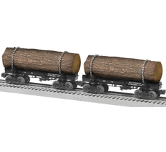 Lionel #1926550 Ely Thomas Skeleton Log Car 2 Pack B