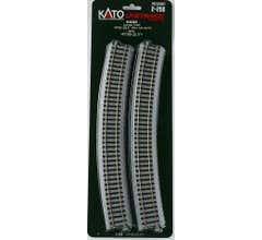 """Kato #2-250 31 1/8"""" R Curve 22.5 Degree Track (4)"""