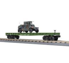 MTH 30-76830 US Army Flat Car w/ Humvee Vehicle