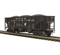 MTH #20-97966 70-ton 3-Bay Hopper Car - Pennsylvania Power & Light