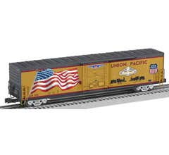 Lionel #2026380 Transcontinental 150 - LED Flag 60' Boxcar