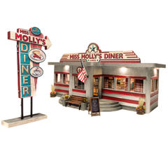 Woodland Scenics BR5870 Built and Ready Miss Molly's Diner- O Scale