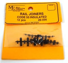 Micro Engineering #26-056 N Scale Rail Joiners, Plastic Insulated, Code 55 (12)