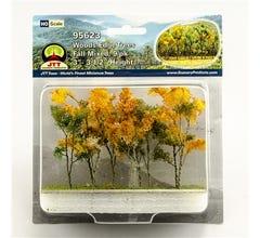 """JTT #95623 Woods Edge Trees, Fall Mixed, 3"""" to 3.5"""", HO-scale, 9/pk"""