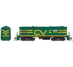 Rapido #31557 RS-11 w/DCC/Sound: Central Vermont - Green w/Noodle: #3601