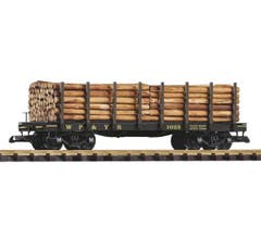 PIKO #38712 Flat with Logs - WP&YR #1023