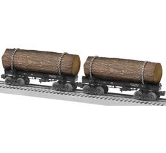 Lionel #1926560 Long Bell Skeleton Log Car 2 Pack A