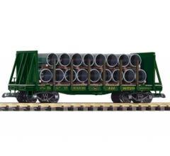 PIKO #38756 Reading Bulkhead Flatcar w/Pipe Load