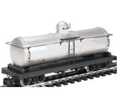 Bachmann #93473 Painted Unlettered - Silver Tank Car