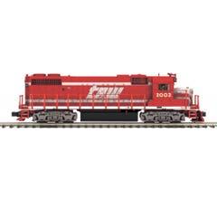 MTH #20-21224-1 GP38-2 Diesel Engine With Proto-Sound 3.0 (Hi-Rail Wheels) - Toledo, Peoria & Western #2003