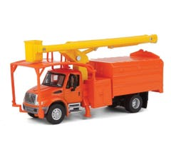 Walthers #949-11744 International 4300 2-Axle Truck with Tree Trimmer Body - Orange