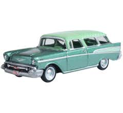 Oxford #87CN57006  Surf Green Highland Green Chevrolet Nomad 1957