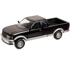 Atlas #2950 Ford 1997 F-150 Pickup Truck - Black/Silver (2 pack)