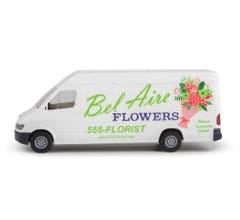Walthers 949-12205 Delivery Van - Bel Aire Flowers