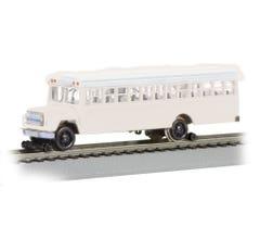 Bachmann #46215 Bus w/High Railers - White