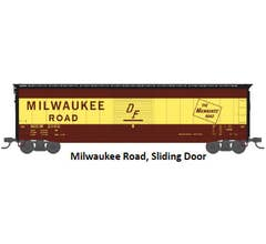 Rivarossi #HR6466A 50' Sliding-Door Boxcar with Roofwalk - Milwaukee Road #2100