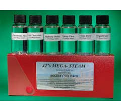 Mega-Steam MSHOLIDAY6 Holiday Scents Assortment in 1 once bottles with dropper (6 pack)