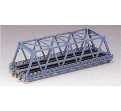 "Kato #20-436 248mm (9 3/4"") Double Track Truss Bridge, Light Blue"