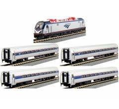 Kato #106-8001 ACS-64 and Amfleet I Phase VI 5-Unit Bookcase Set