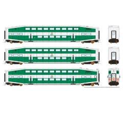 Rapido #146015 BiLevel Commuter Car - TriRail set1