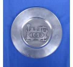 LGB #lgbplate01 Train Engine Logo Pewter Plate